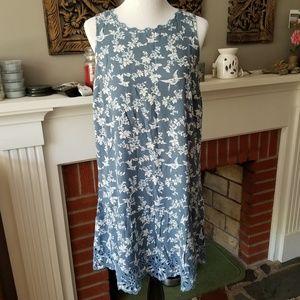 BNWT LOFT Floral Eyelet Flippy Dress